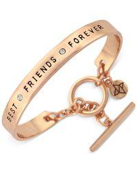 BCBGeneration | Metallic Rose Gold-tone Best Friend Bangle Bracelet | Lyst