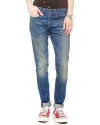 6397 Blue Loose Skinny Jeans - Medium Dirty