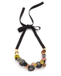 Marc By Marc Jacobs - Cabochon Statement Necklace - Black Multi - Lyst