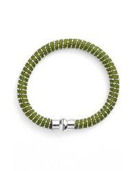Nu Brand | Beaded Bracelet - Olive Green | Lyst