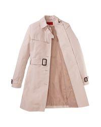 HUGO Pink Trench Coat: 'mihalas-1'