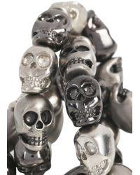 Simon Carter - Metallic Platinum Plated Skull Bracelet for Men - Lyst