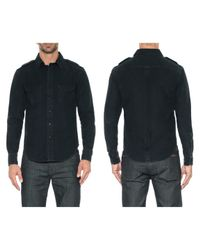 Joe's Jeans | Black Single Pocket Military Shirt for Men | Lyst