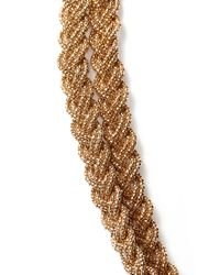 Forever 21 Metallic Braided Chain Layered Necklace