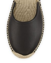 Ash Gray Zania Leather Espadrille Flat