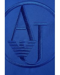 Armani Jeans | Blue Flat Messenger Bag In Nylon With Embroidered Logo | Lyst