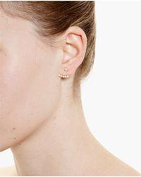 Yvonne Léon - Metallic 18K Gold And Five Diamond Lobe Earring - Lyst