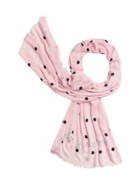 kate spade new york | Pink Celebration Dot Scarf | Lyst