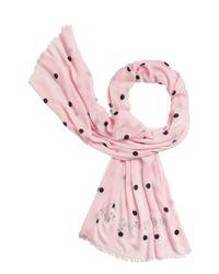kate spade new york - Pink Celebration Dot Scarf - Lyst