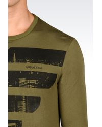 Armani Jeans | Green Print T-shirt for Men | Lyst
