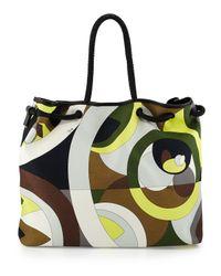 Emilio Pucci - Brown Kaleidoscope-Print Large Canvas Bag - Lyst