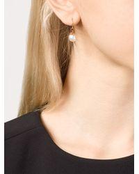 Marie-hélène De Taillac | Metallic 22kt Gold Star Charm Pearl Earrings | Lyst