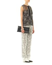 Erdem - Black Taffy Lace Tailored Trousers - Lyst