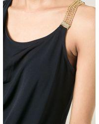 MICHAEL Michael Kors - Blue Asymmetric Chain Vest - Lyst