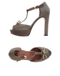 Twin Set - Gray Sandals - Lyst