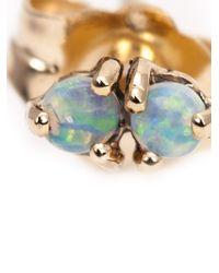 Wwake | Green 14Kt Gold Opal Stud Earrings | Lyst