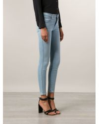 FRAME Blue 'jeanne Le' High Waist Skinny Jeans