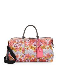 Rebecca Minkoff - Multicolor Floral-print Leather Weekender Bag - Lyst