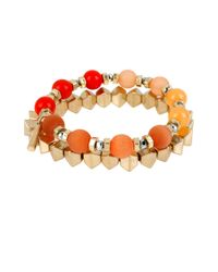 Kenneth Cole - Orange Citrus Slice Mixed Bead Bracelet Set 2 - Lyst