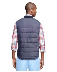 Brooks Brothers | Blue Quilted Vest for Men | Lyst