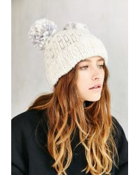 Urban Outfitters | Natural Animal Ears Beanie | Lyst