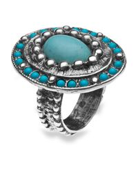 Platadepalo - Blue American Indian Turquoise Silver Ring - Lyst