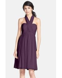Jenny Yoo | Purple 'keira' Convertible Strapless Chiffon Dress | Lyst