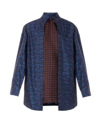 Alexander Wang - Purple Layered Paisley-print Silk Blouse - Lyst