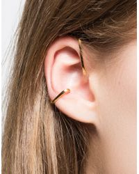 Vibe Harsløf - Metallic Earstaple Gold - Lyst