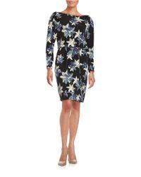 Ivanka Trump Multicolor Floral Shift Dress