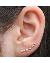 Anne Sisteron | 14kt Yellow Gold Diamond Organic Ear Cuff | Lyst