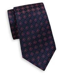 Saks Fifth Avenue | Blue Floral Diamond Pattern Silk Tie for Men | Lyst