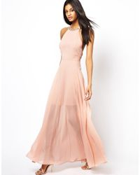 ASOS | Pink Cluster Embellished Maxi Dress | Lyst
