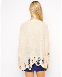 Wildfox - Orange Lennon Big Heart Sweater - Lyst