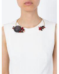 Marni   Metallic Flower Detail Open Choker   Lyst