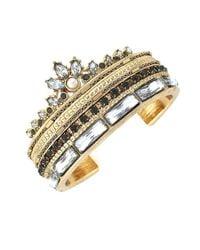 BCBGeneration | Metallic Rhinestone Drama Cuff Bracelet | Lyst