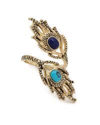 House of Harlow 1960 | Metallic Eye Of Wisdom Ring Lapisturquoise | Lyst