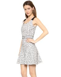 Marc By Marc Jacobs Heather Stretch Jacquard Dress Antique White Multi