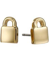 Marc By Marc Jacobs | Metallic Locked In Orbit Locked Up Studs Earrings | Lyst