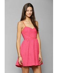 Urban Outfitters | Red Fit Flare Dress | Lyst