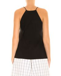 Vince - Black Pintuck Pleat V-neck Blouse - Lyst