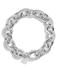 David Yurman - Metallic Oval Large Link Bracelet - Lyst