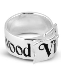 Vivienne Westwood | Metallic Sterling Silver Belt Ring - For Men | Lyst