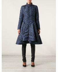 Mary Katrantzou Blue Floral Padded Coat