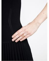 Repossi - Metallic 18kt Rose Gold And Diamond 'white Noise' Ring - Lyst