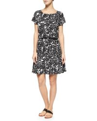 Joie - Black Eley Hawaiian Floral-print Popover Dress - Lyst
