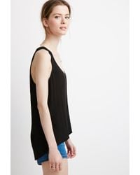 Forever 21 - Black Contemporary Layered Sleeveless Top - Lyst