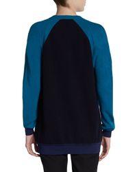 Stella McCartney - Blue Colorblock Wool Angora Sweater - Lyst