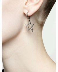 Rosa De La Cruz | Multicolor Diamond Star Drop Earrings | Lyst