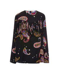MSGM   Multicolor Memphis-print Silk Blouse   Lyst